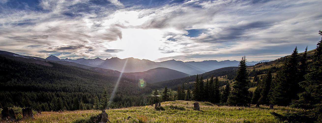 Rocky Mountain sunset